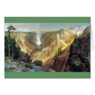 Thomas Moran - Grand Canyon of the Yellowstone Card