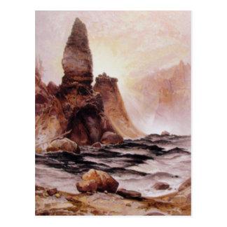Thomas Moran - la torre cae en Yellowstone Postales