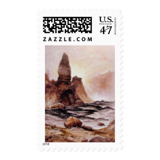 Thomas Moran - la torre cae en Yellowstone Sello Postal