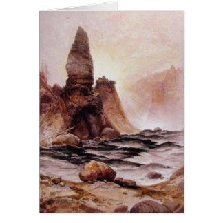 Thomas Moran - la torre cae en Yellowstone Tarjeta De Felicitación