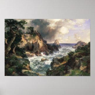 Thomas Moran - Point Lobos, Monterey, California Poster