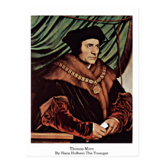 Thomas More By Hans Holbein The Younger Postcard
