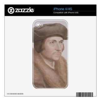 Thomas More, Lord Chancellor (1478-1535) engraved Skin For iPhone 4S