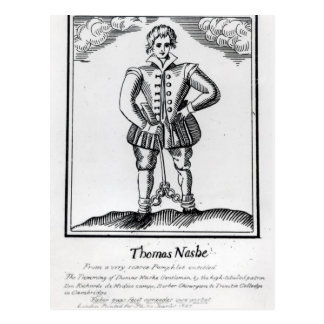 Thomas Nashe , from a pamphlet, pub. in 1597 Postcard