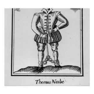 Thomas Nashe , from a pamphlet, pub. in 1597 Print