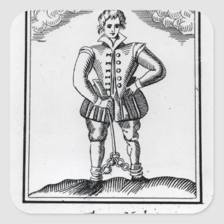 Thomas Nashe , from a pamphlet, pub. in 1597 Square Sticker