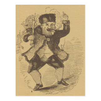 Thomas Nast s Early St Nick Drawing Card Postcard