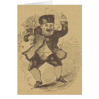 Thomas Nast's Early St. Nick Drawing Card