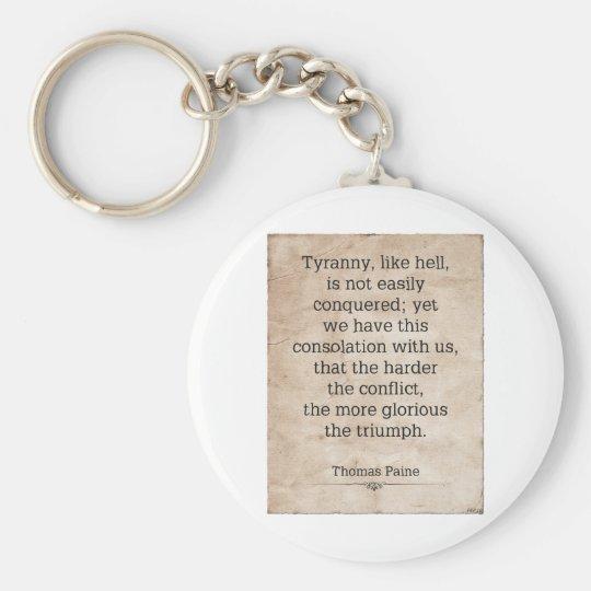 Thomas Paine #1 Keychain