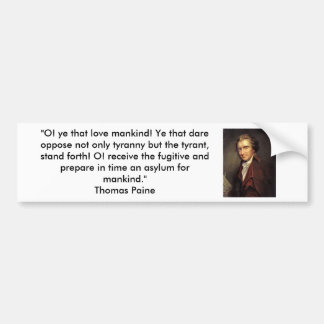 Thomas Paine - Common Sense Bumper Sticker