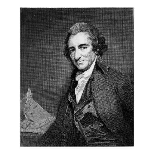 THOMAS PAINE Engraving by William Sharp Posters