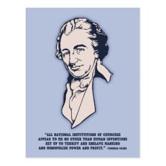 Thomas Paine - Mega-Iglesias Tarjetas Postales
