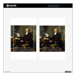 """Thomas Paine """"My Brethren"""" Quote Gifts & Cards Kindle Fire Decal"""