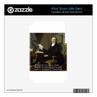 """Thomas Paine """"My Brethren"""" Quote Gifts & Cards Skin For iPod Touch 4G"""