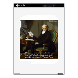 """Thomas Paine """"My Brethren"""" Quote Gifts & Cards Skins For iPad 2"""