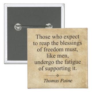 Thomas Paine Pin Cuadrado