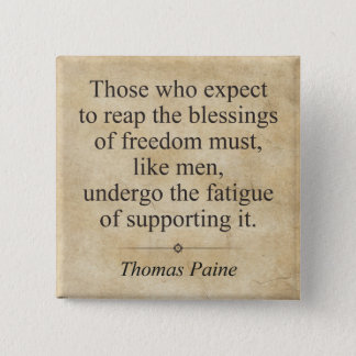 Thomas Paine Pinback Button