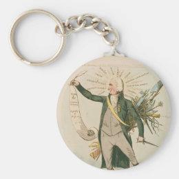 Thomas Paine Political Cartoon Keychain