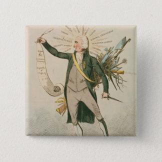 Thomas Paine Political Cartoon Pinback Button