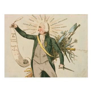 Thomas Paine Political Cartoon Postcard