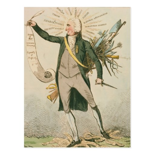 Thomas Paine Political Cartoon Postcards