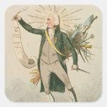 Thomas Paine Political Cartoon Sticker