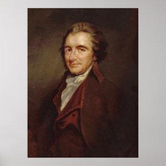THOMAS PAINE Portrait by: Auguste Millière Print