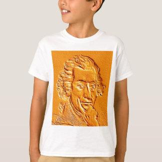 Thomas Paine portrait in gold T-Shirt