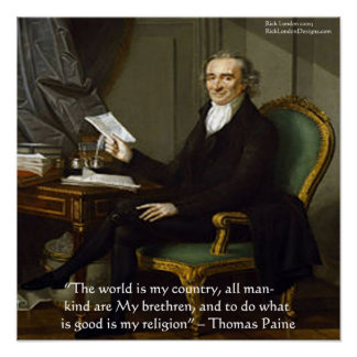 Thomas Paine poster de la cita de la sabiduría de