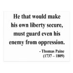 Thomas Paine Quote 3a Postcard