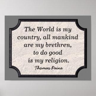 Thomas Paine - Quote - art print