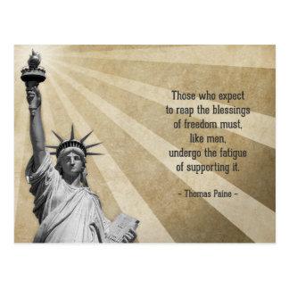 Thomas Paine Quote Postcard