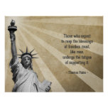 Thomas Paine Quote Poster