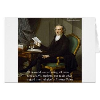 """Thomas Paine regalos y tarjetas de la cita de """"mis"""