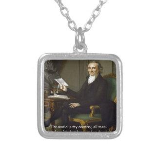 """Thomas Paine regalos y tarjetas de la cita de """"mis Collar Plateado"""