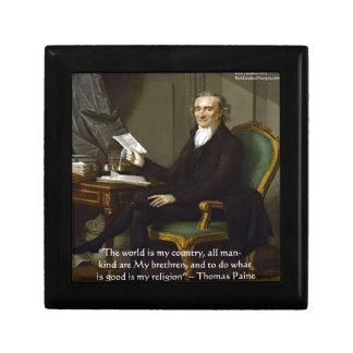"Thomas Paine regalos y tarjetas de la cita de ""mis Joyero Cuadrado Pequeño"