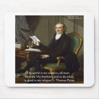"""Thomas Paine regalos y tarjetas de la cita de """"mis Mouse Pads"""
