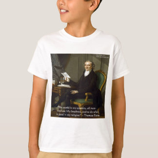 "Thomas Paine regalos y tarjetas de la cita de ""mis Playera"