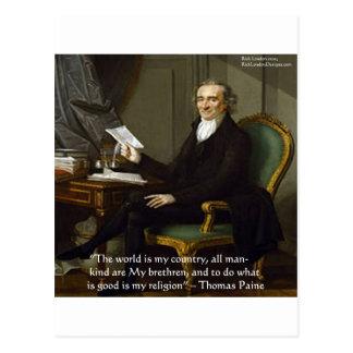 "Thomas Paine regalos y tarjetas de la cita de ""mis Postales"