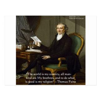 """Thomas Paine regalos y tarjetas de la cita de """"mis Tarjetas Postales"""