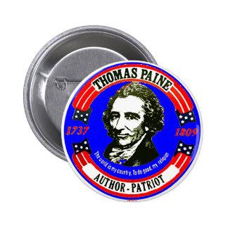 Thomas Paine RWB - Botón Pin Redondo De 2 Pulgadas
