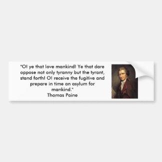 Thomas Paine - sentido común Pegatina Para Auto