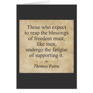 Thomas Paine Tarjeta De Felicitación