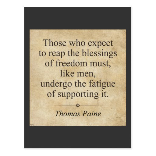 Thomas Paine Tarjetas Postales