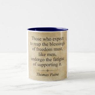 Thomas Paine Two-Tone Coffee Mug