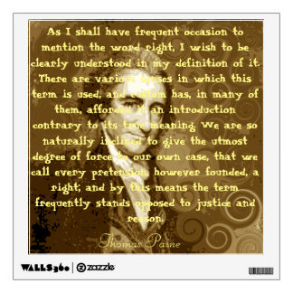 Thomas Paine Wall Decal (Public Good)