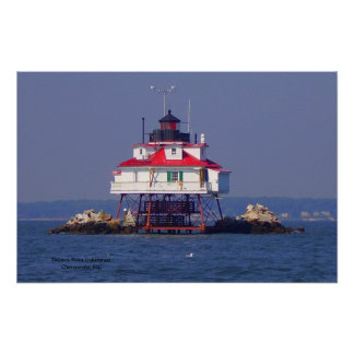 Thomas Point Lighthouse  Ch... Poster