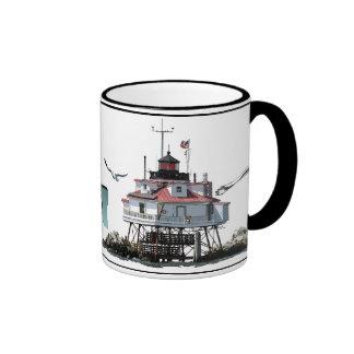 Thomas Point Lighthouse Ringer Coffee Mug