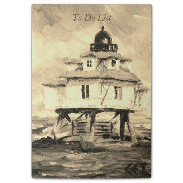 Beach Themed Thomas Point Lighthouse Sepia Post-it Notes