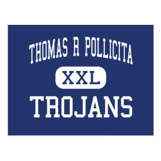 Thomas R Pollicita Trojans Middle Daly City Postcard